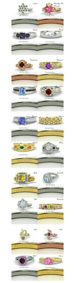 Disney Princess rings