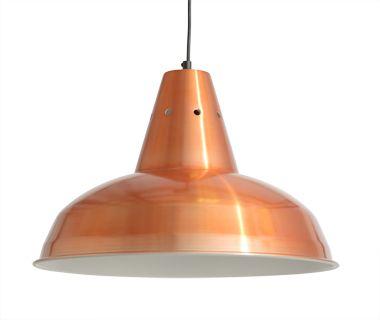 Industrial copper pendant