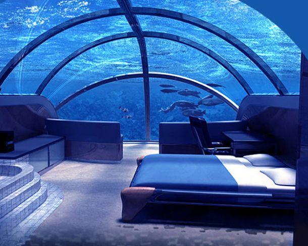 Dormir au fond de l'océan Pacifique Hôtel Poseidon Undersea Resorts aux Iles Fidji