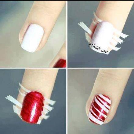 Christmas nails - @Brianna McDermott look!