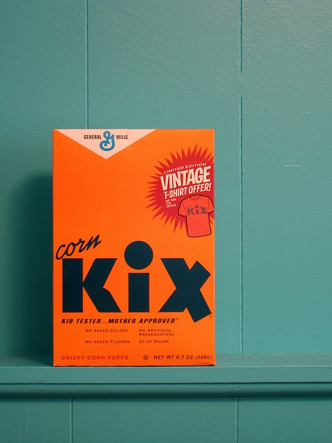 Vintage kix cereal box by gentlepurespace, via Flickr