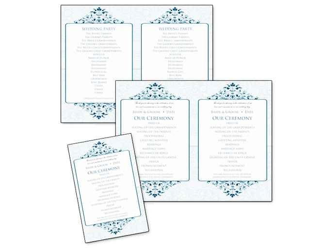 6 Pretty (and Easy) DIY Wedding Ceremony Program Templates | TheKnot.com