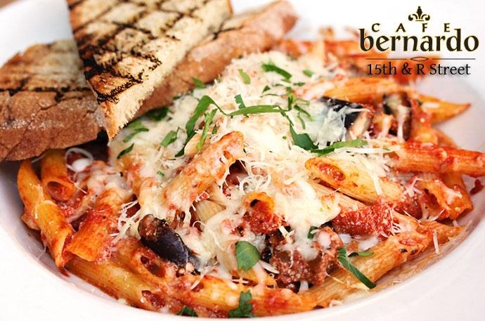 Baked Penne with Portobello mushrooms, tomato basil sauce, ricotta ...