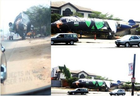 In a weird turn of events in the commercial capital of Nigeria - Lagos, an aircraft was parked o...