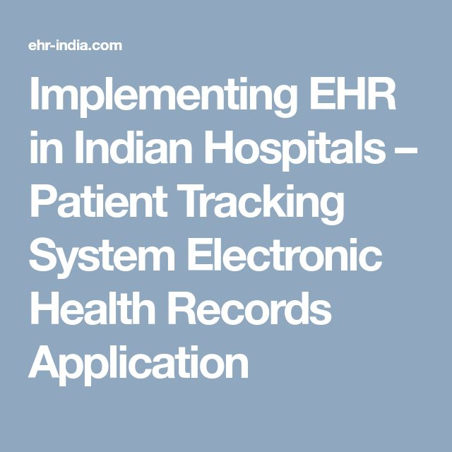 Implementing EHR in Indian Hospitals Patient Tracking