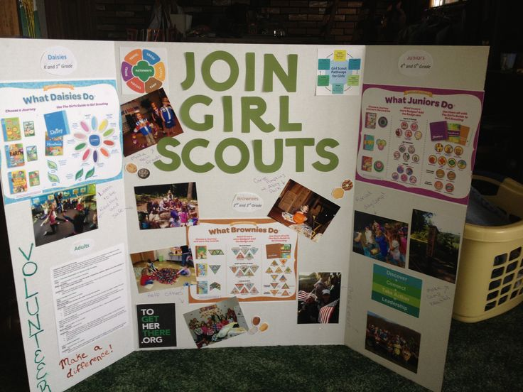 Girl Scout Recruitment poster