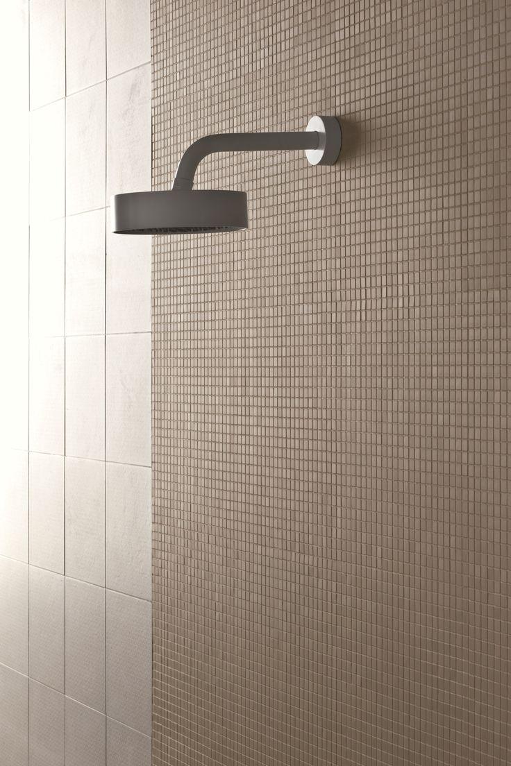 Modern bathroom exhaust venti invisible wall mounted fan - Mosaico De Gres Porcel Nico Teknotessere Cemento By Mutina