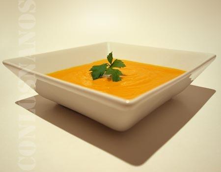 crema de zanahoria y leche de coco