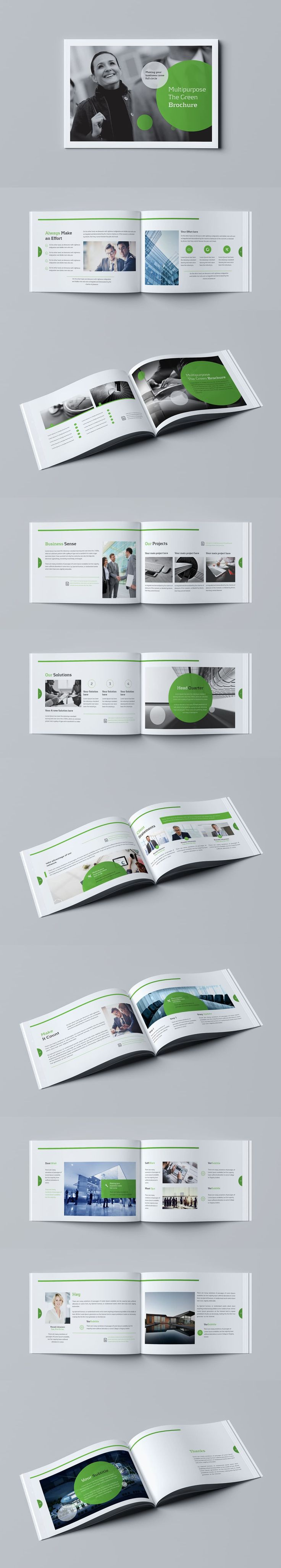 Professional, Clean and Modern 20 Pages Corporate Business Brochure Template InDesign INDD