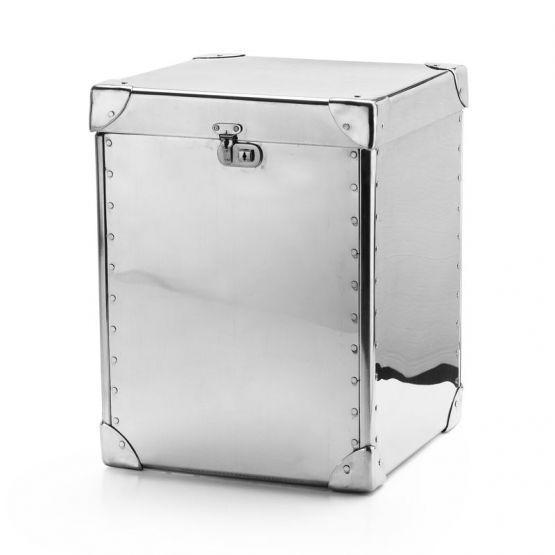 BAULE in ALLUMINIO BRAID CONCEPT design arredo moderno portaoggetti scatola pouf