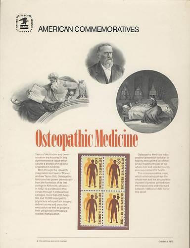 USPS American Commemorative Panel  #osteopathic