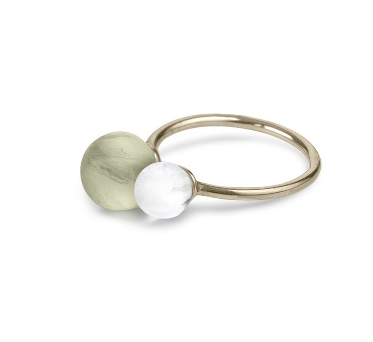 Love Ring. A symbol of your love for your partner, your daughter, your friend, your sister. Prehnit, rock crystal and gold.
