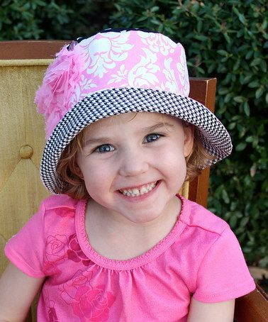 This Pink & Black Damask Susan Sunhat by Wiggy Studio is perfect! #zulilyfinds