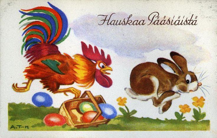 Hauskaa Pääsiäistä!  #pääsiäinen #eastern #kukot #puput