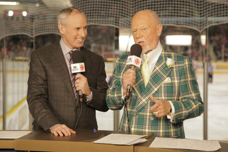 Ron MacLean and Don Cherry at Scotiabank Hockey Day in Canada in Peterborough.