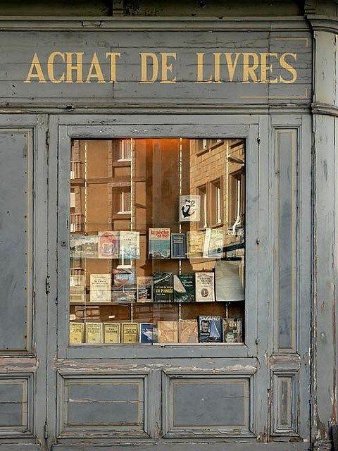 beautiful old & grey bookshopfront