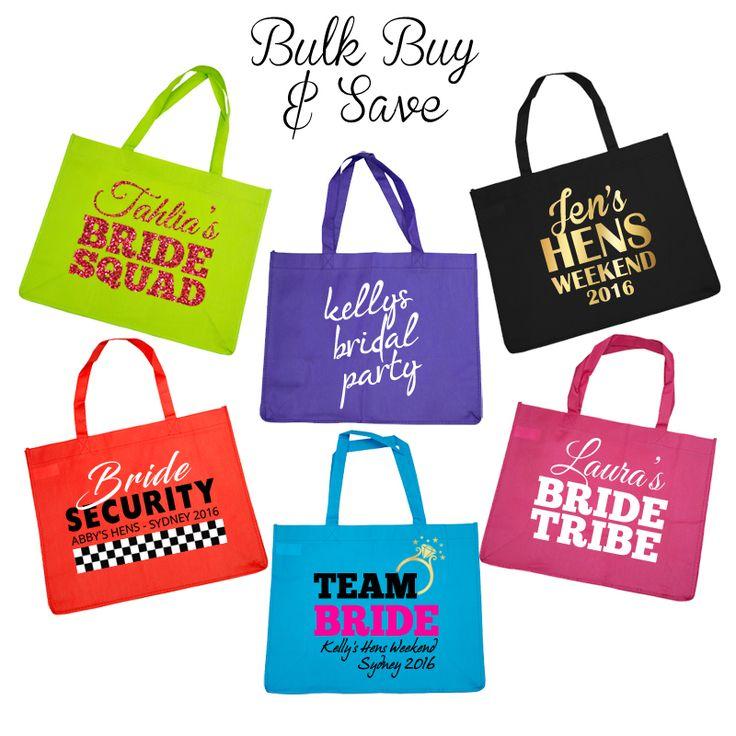 Personalised Budget Tote Bag - Bulk Buy