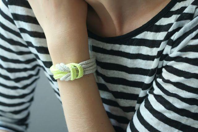 armband aus schnürsenkeln