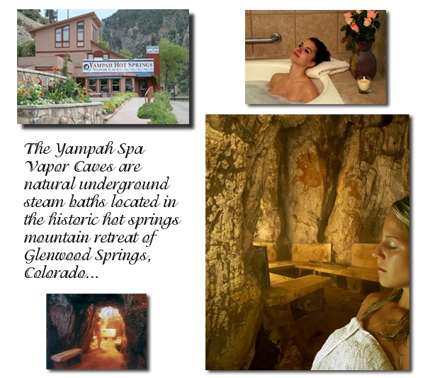 Yampah Spa and Vapor Caves in Glenwood Springs, Colorado. I used to work there as a massage therapist and I steamed and soaked in the underground caves every night. Very cool ( I mean hot) place!