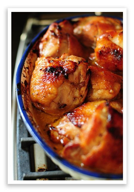 Honey & Soy Baked Chicken Thighs (used coconut aminos instead of soy sauce)