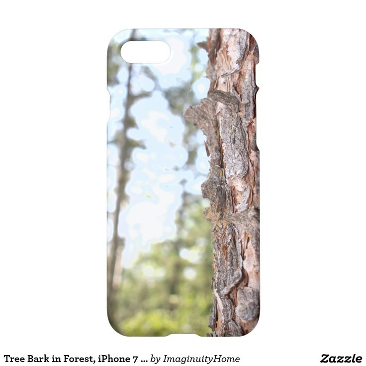 Tree Bark in Forest, iPhone 7 Case: Rustic image of a tree with the forest in the background. This protective case is a great way to enjoy and protect your new iPhone 7!