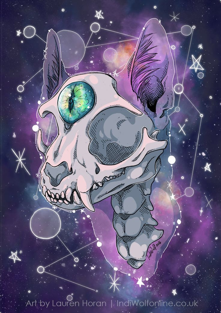 Mystic by IndiWolfOnline Gato místico, esqueleto con 3 ojo