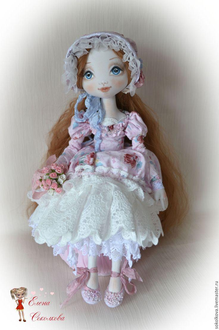 Купить Мари - бледно-розовый, кукла, кукла ручной работы, кукла в подарок, кукла интерьерная