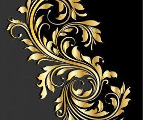 Błyszczące złote ornamenty tło wektor 05
