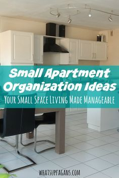Small apartment organization ideas. DIY small space organization. #smallspaceliving #apartmentliving
