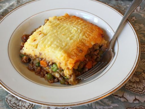 Irish Shepherd's Pie. If you like lamb, this is really tasty. (It took me about 3 hours to make tonight, but I am a noob.)
