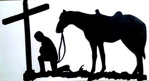 17 best images about kneeling cowboy on pinterest for Cowboy silhouette tattoo