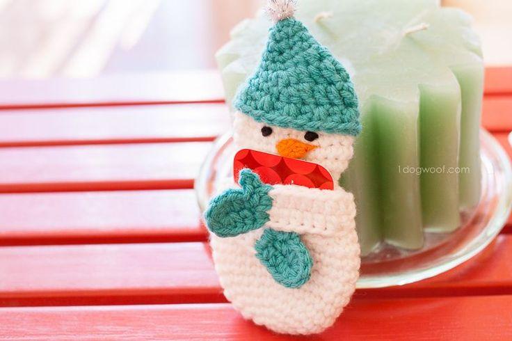 Free Crochet Pattern Gift Card : Snowman Gift Card Holder Crochet Pattern Free pattern ...