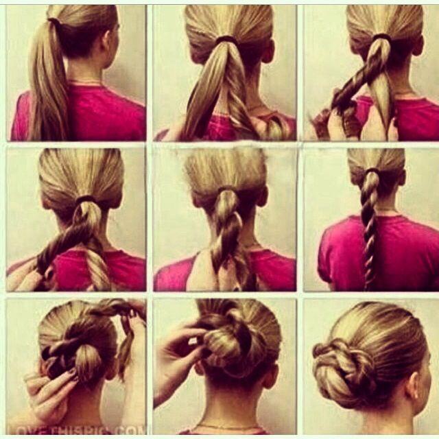#hair #howto #cute #ponytail #twist #wrap #bun #apostolic #pentecostal