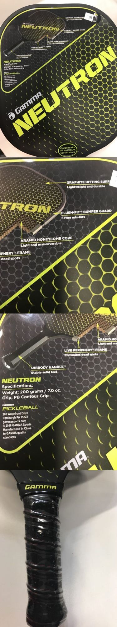 Other Tennis and Racquet Sports 159135: New Gamma Neutron Graphite Pickleball Paddle 7Oz Lightweight BUY IT NOW ONLY: $99.0