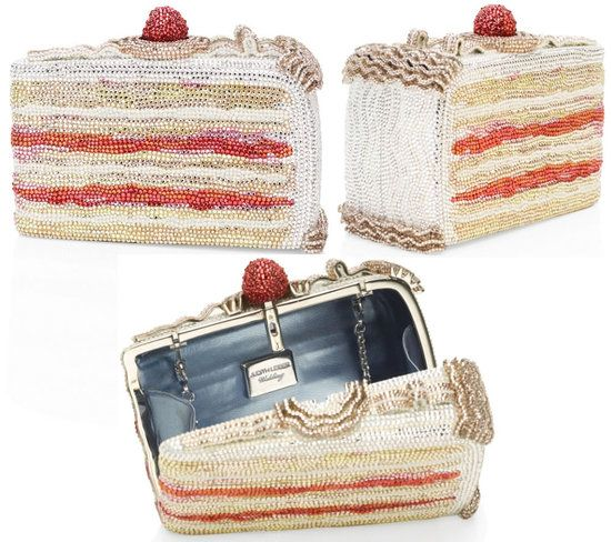 ahhhhh. Judith Leiber cake slice minaudiere. Makes me cry, so lovely.