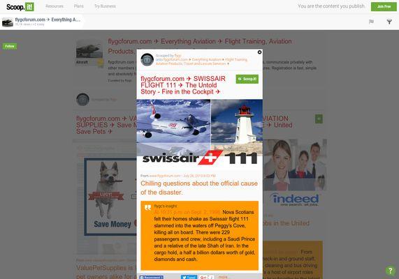flygcforum.com ✈ SWISSAIR FLIGHT 111 ✈ The Untold Story - Fire in the Cockpit ✈