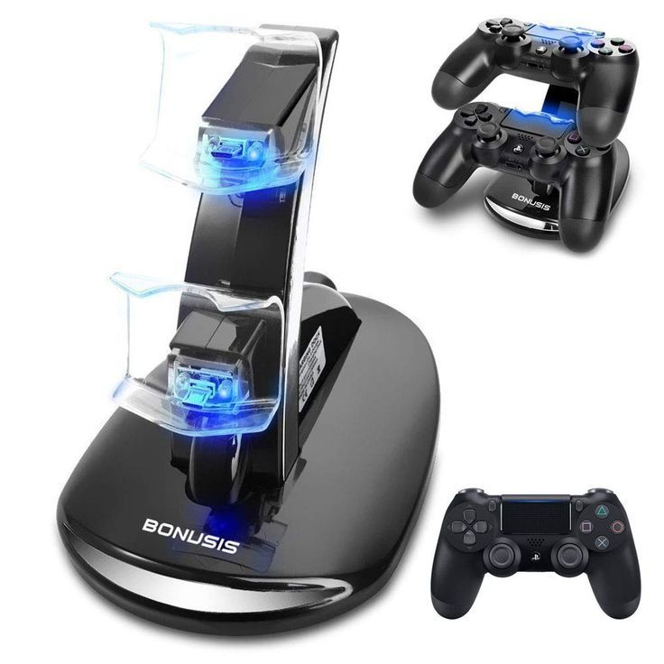 Bonusis Ps4 Controller Ladestation Ps4 Controller Ladegerat Dual Usb Lade Ladegerat Docking Station Stand Mit Led Anzeige F In 2020 Playstation Ps4 Konsole Ladestation