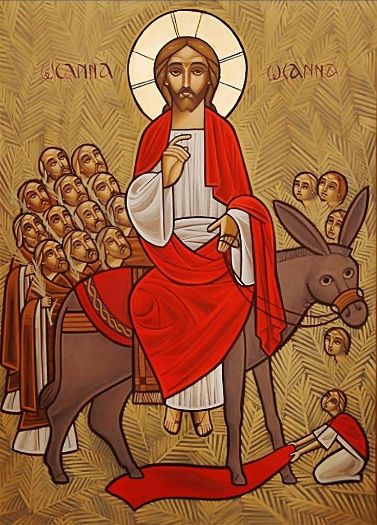 Entry into Jerusalem - Coptic Icon by Dr Stephane Rene