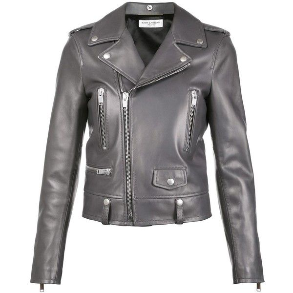 Grey leather jackets for women