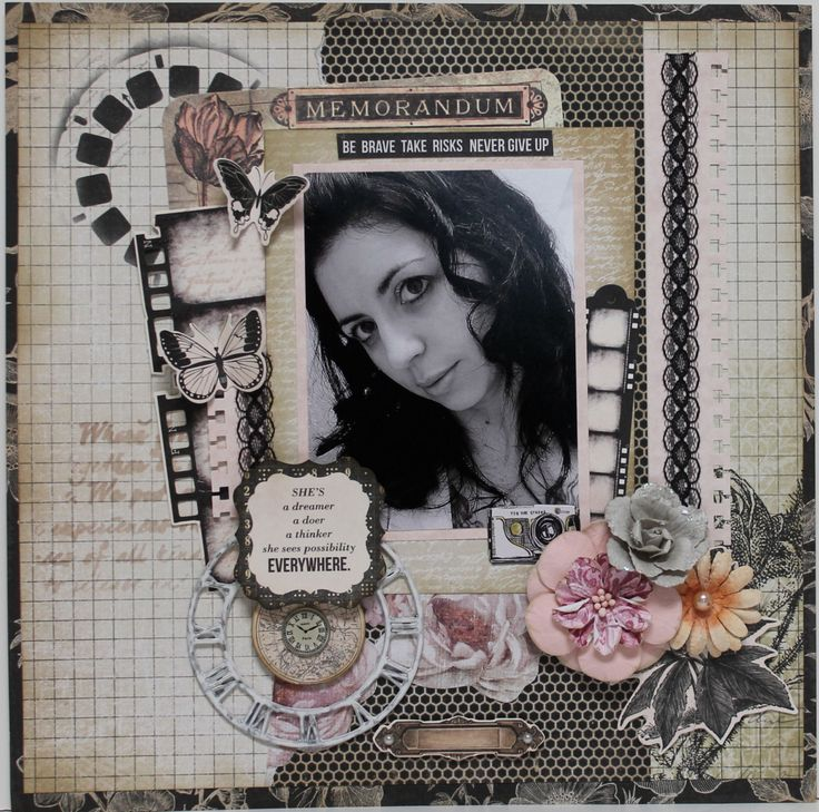 Take Risks -  A layout using Scraps of Darkness Feb. kit - Kaisercraft - Art of Life Collection