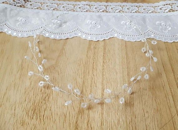 Bride Color Decoration Hair Glass Beads Wedding Jewelry Silver Headpiece Jewelry Silver Wedding Jewelry Bridal Jewelry