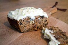 Wortel courgette cake met limoenfrosting!