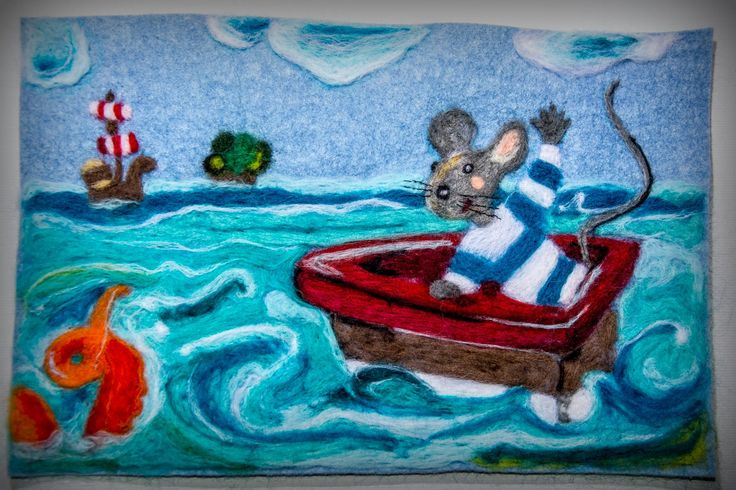 needle felted picture- Rumini