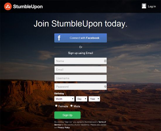 Example 2: StumbleUpon