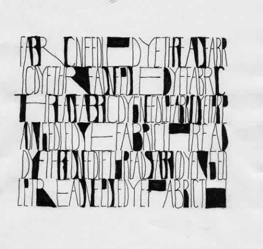 Textile Snippets: Denise Lach - Designing with Letters - part 1