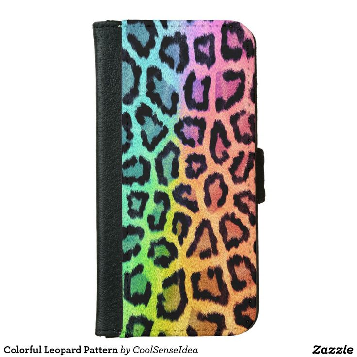 Colorful Leopard Pattern Wallet Phone Case For iPhone 6/6s
