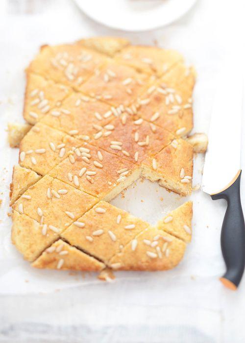Basbousa flavored with orange blossom extract by Sigrid @ Cavoletto di Bruxelles (recipe in Italian)