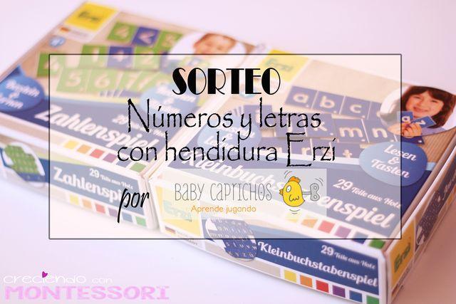 Hoy post en Creciendo con Montessori sobre letras y números con hendidura con SORTEO cedido por Baby Caprichos!! http://www.creciendoconmontessori.com/2016/03/numeros-y-letras-con-hendidura-erzi.html