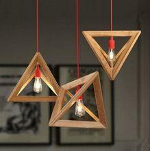 Marca S & I moderno personalidad Simple deformidad tridimensional de madera Real lámpara de techo de luz para decoración colgante(China (Mainland))