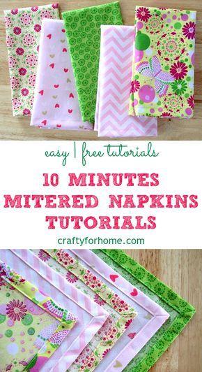 Sew Easy Handmade Mitered Corners Napkins